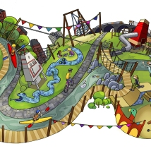 'Playgrounds of East London' Illustration